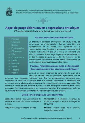 Appel de propositions ouvert : expressions artistiques